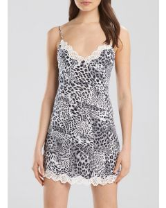 NATORI MAIA CHEMISE IN ANIMAL PRINT