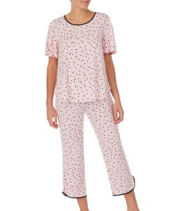 KATE SPADE SCATTERED DOT SWING TOP CROPPED PJ SET
