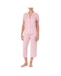 KATE SPADE FLAMINGO DOT SS BUTTON CAPRI SET