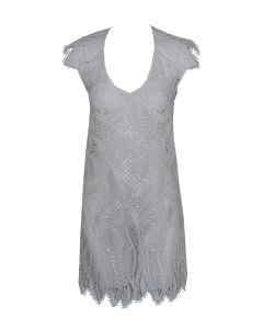 LISE CHARMEL TRANSPARENCE ECUME SWIM TOWN DRESS IN WHITE