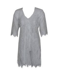 LISE CHARMEL TRANSPARENCE ECUME SWIM TUNIC IN WHITE