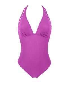 LISE CHARMEL AJOURAGE COUTURE SWIM TRIKINI IN VIOLET