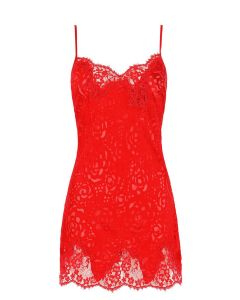 LISE CHARMEL DRESSING FLORAL CHEMISE IN RED