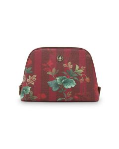 PIP STUDIO COSMETIC BAG MEDIUM COSMETIC BAG IN BURGENDY