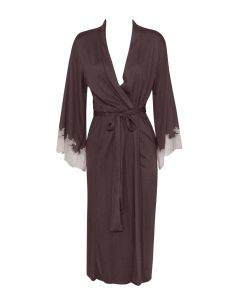 NATORI LUXE SHANGRI-LA LONG ROBE IN CLOVE