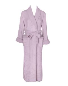 NATORI PLUSH SHERPA SOLID LONG ROBE IN LILAC