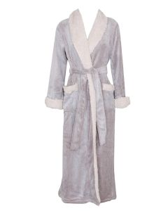 NATORI SHERPA LONG ROBE IN CASHMERE