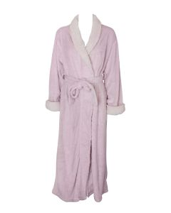 NATORI SHERPA LONG ROBE IN PINK