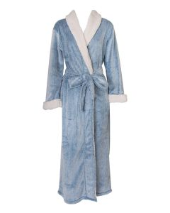 NATORI SHERPA LONG ROBE IN LAKE BLUE