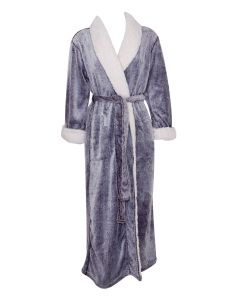 NATORI SHERPA LONG ROBE IN WISTERIA