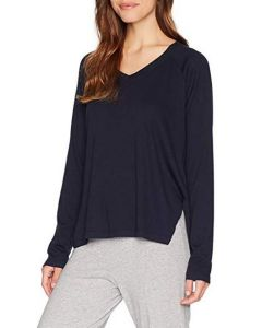 PJ HARLOW PJ HARLOW L/S V-NECK SWEATER IN NAVY