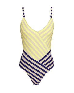 ANDRES SARDA NAIF SWIM TRIANGLE ONE PIECE IN SUEDE