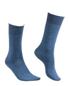 ILUX NU-NUVOLA CASHMERE SOCKS IN JEANS BLUE
