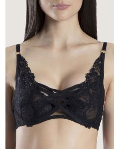 AUBADE NUIT INDECENTE DEMI BRA IN BLACK