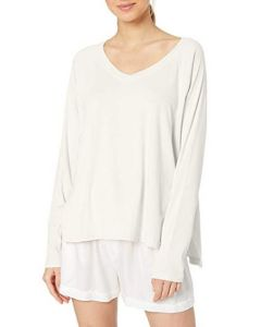 PJ HARLOW PJ HARLOW L/S V-NECK SWEATER IN PEARL