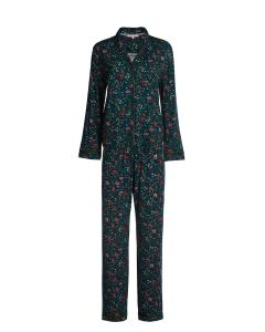 PIP STUDIO PIA L/S BUTTON DOWN PAJAMA SET IN BLUE