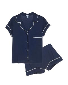 EBERJEY GISELE SHORT PJ SET IN NAVY
