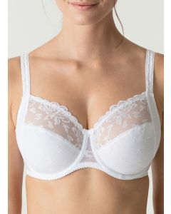 PRIMADONNA WATERLILY SIDE SLING WIRE BRA IN WHITE (F-G CUPS)