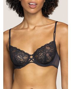 ANDRES SARDA TIGER FULL CUP BRA IN BLACK