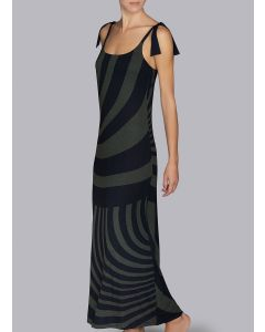ANDRES SARDA BELLE SWIM MAXI DRESS IN KAKI