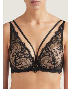 AUBADE LA REINE DE LA NUIT TRIANGLE PUSH UP BRA IN BLACK