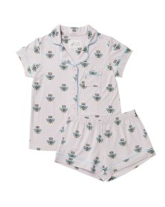 CAT'S PAJAMAS QUEEN BEE SHORT PJ SET IN LAVENDER