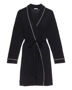 EBERJEY GISELE SHORT ROBE IN BLACK