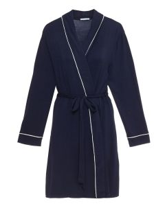 EBERJEY GISELE SHORT ROBE IN NAVY