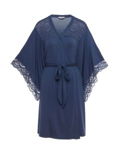 EBERJEY SIMONA SHORT ROBE IN CROWN BLUE