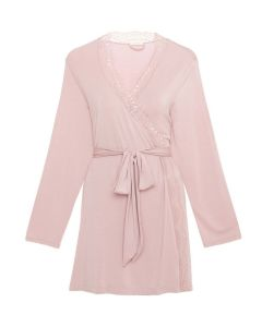 EBERJEY MYLA SHORT ROBE IN MAUVE