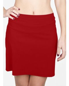SHAN CLASSIQUE SWIM SKIRT COVERUP IN PORTO RED