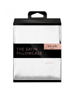 KITSCH STANDARD SATIN PILLOWCASE IN IVORY