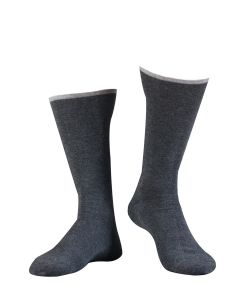 ILUX SIR LOTUS MEN'S CASHMERE SOCKS IN ASPHALT