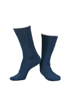 ILUX SIR LOTUS MEN'S CASHMERE SOCKS IN INDIGO