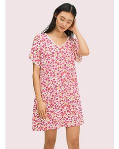 KATE SPADE MARKER FLORAL S/S SLEEPSHIRT IN PINK
