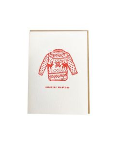 "DAHLIA PRESS ""SWEATER"" HOLIDAY GREETING CARD"