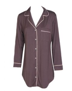 EBERJEY GISELE NIGHTSHIRT IN PEBBLE