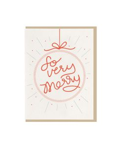 "DAHLIA PRESS HOLIDAY GREETING CARD ""SO VERY MERRY"""