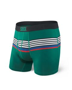SAXX ULTRA BOXER BRIEF FLY IN GREEN REGATTA STRIPE