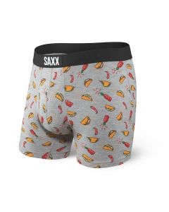 SAXX ULTRA BOXER BRIEF FLY IN GREY HOT TACO