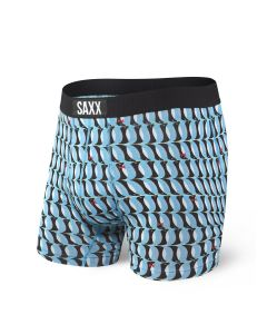 SAXX ULTRA BOXER BRIEF FLY IN BLUE PENGUINS