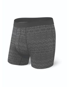 SAXX PLATINUM BOXER BRIEF FLY IN BLACK PATTERN BAND