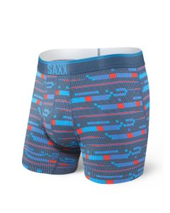 SAXX QUEST 2.0 BOXER BRIEF FLY IN BLUE ASSEMBLY STRIPE