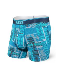 SAXX QUEST 2.0 BOXER BRIEF FLY IN BLUE PATCHWORK
