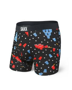 SAXX VIBE BOXER BRIEF IN BEER CHAMPS, BLACK