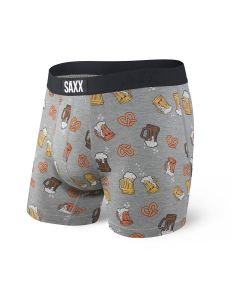 SAXX VIBE BOXER BRIEF IN GREY BEER CHEERS