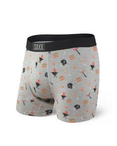 SAXX VIBE BOXER BRIEF IN GREY TAILGATE