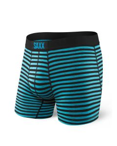 SAXX VIBE BOXER BRIEF IN BLACK SPACE HIKER STRIPE