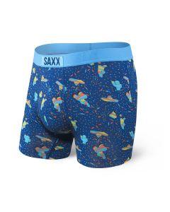 SAXX VIBE BOXER BRIEF IN BLUE PINATA BANG