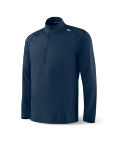 SAXX THERMO-FLYTE HALF-ZIP LS TOP IN NAVY